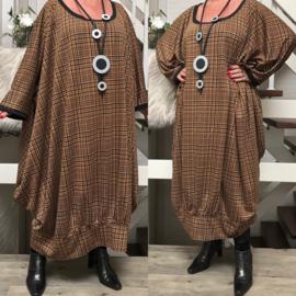 Elena oversized viscose jersey A-lijn jurk/tuniek met zakken apart(extra groot)stretch