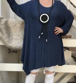 Moonshine jersey viscose asymmetrisch A-lijn tuniek  apart stretch/in meerdere kleuren