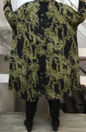 Debie  oversized viscose jersey A-lijn jurk/tuniek met zakken apart stretch  (extra groot)stretch