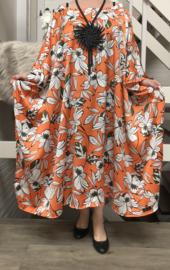 Carmen oversized silky satin jurk/poncho/wrap apart   (extra groot)