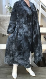 Jenny oversized A-lijn jersey blazer/vest  (extra groot)  apart stretch