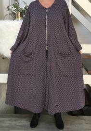 Anne oversized A-lijn jersey blazer  (extra groot)  apart, stretch