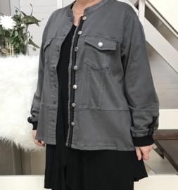 ITALIA jeans katoen korte blazer stretch (extra groot)