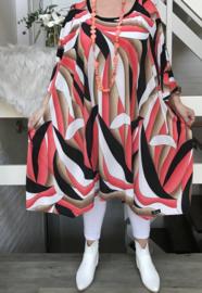 Norma oversized A-lijn jersey tuniek/jurk met zakken apart (extra groot)