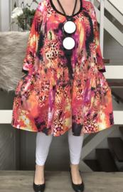 Lizy oversized A-lijn jersey tuniek/jurk met zakken apart (extra groot) stretch