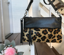 GENUINE LEATHER fashion tas met animal print