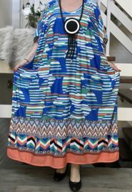 Nora oversized jersey jurk/poncho/wrap apart   (extra groot)