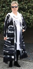 Franny oversized A-lijn jersey blazer/jas  (extra groot)  apart donkerblauw