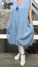 ITALIA jeans tencel  A-lijn jurk