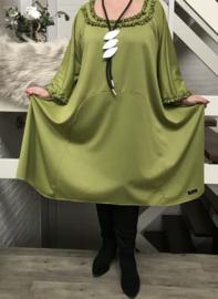 Sandy oversized A-lijn jersey jurk/tuniek apart (extra groot)