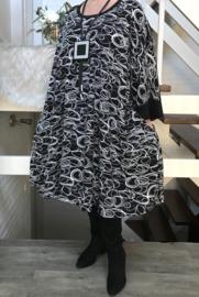 Shirley oversized katoen A-lijn jurk/tuniek met zakken apart (extra groot)