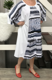 Emilia oversized A-lijn jersey jurk  apart (extra groot)/in meerdere variantenn