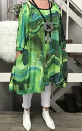 Sara oversized A-lijn jersey tuniek met zakken apart (extra groot)
