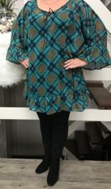 Emily oversized A-lijn  jurk/tuniek apart (extra groot)