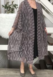 Patricia oversized A-lijn kanten blazer/jas  (extra groot)  apart