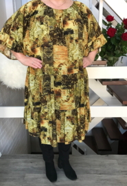 Kate oversized A-lijn viscose jurk apart (extra groot)