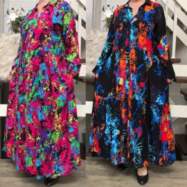 SEE MORE katoen A-lijn  jurk/hemd /in meerdere kleuren
