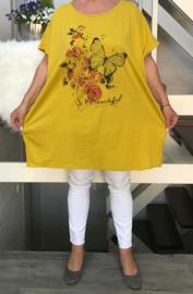 ITALIA oversized tricot katoen tuniek (extra groot)/in meerdere kleuren