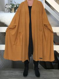 Dot oversized A-lijn jersey blazer/jas  (extra groot)  apart