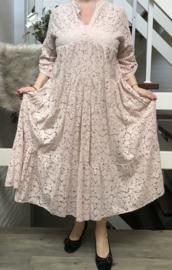 ITALIA KANTEN katoen A-lijn jurk + top /in meerdere kleuren