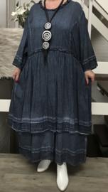 SINNE design..de modieuze kleuring A-lijn katoen jurk/in meerdere kleuren