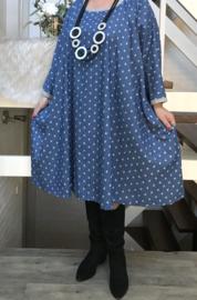 Rosemary oversized A-lijn zachte jeans jurk/tuniekmet zakken apart (extra groot)