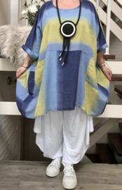 ITALIA oversized katoen tuniek/poncho/top /in meerdere kleuren