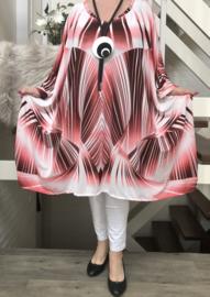 Estela oversized A-lijn jersey jurk met zakken apart (extra groot) stretch