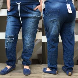 Moonshine katoen jeans broek met veel stretch apart