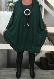 Leny oversized A-lijn viscose jersey  jurk apart (extra groot)stretch