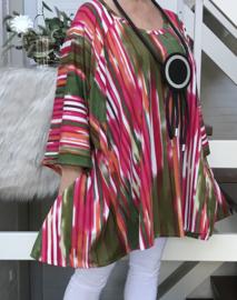 Esther oversized A-lijn jersey tuniek/jurk met zakken apart (extra groot)