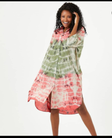 ITALIA oversized viscose A-lijn jurk/hemd met zakken/in meerdere kleuren