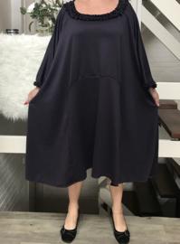 Julie oversized A-lijn jersey jurk apart (extra groot) dark plum