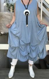 Moonshine katoen jersey A-lijn jurk met verstelbare plooien /in meerdere kleuren