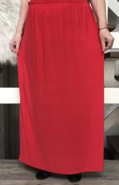 ITALIA rok met elastische tailleband rood