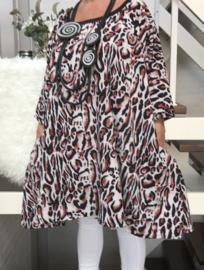Theresa oversized A-lijn crepe tuniek met zakken apart (extra groot)