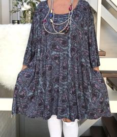 Jessica oversized A-lijn viscose jersey tuniek/jurk met zakken apart (extra groot)