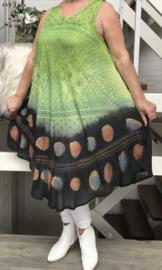 ITALIA  viscose A-lijn jurk / in meerdere kleuren