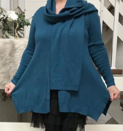 Moonshine gebreide A-lijn vest met sjaalapart/in meerdere kleuren