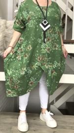 ITALIA  linnen A-lijn jurk/in meerdere kleuren
