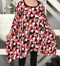 Betsy oversized A-lijn jersey jurk/tuniek apart (extra groot)