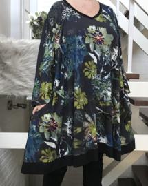 Emily oversized A-lijn viscose jersey tuniek/jurk met zakken apart (extra groot)stretch