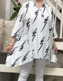 ITALIA oversized katoen blouse/hemd stretch