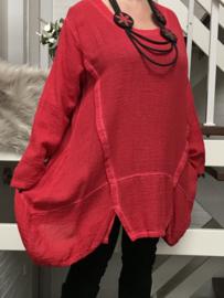 La Bass katoen de modieuze kleuring tuniek met zakken/in meerdere kleuren