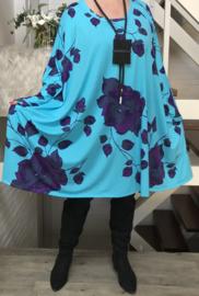 Martha oversized jersey A-lijn tuniek/jurk met zakken apart (extra groot)