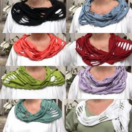 Moonshine cirkel sjaal apart/ smal model/in meerdere kleuren