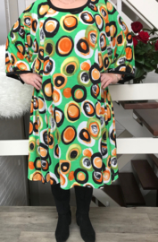 Audrey oversized A-lijn jersey jurk apart (extra groot)