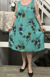 ITALIA MODE viscose A-lijn jurk met inzet van KANT
