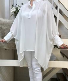 ITALIA oversized viscose blouse/hemd stretch