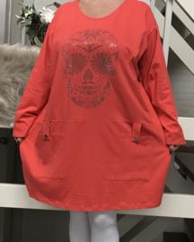 ITALIA katoen  oversized jersey tuniek/jurk /in meerdere kleuren